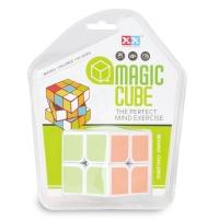 Plastic candy color magical cubes puzzle