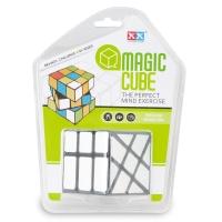 white Toys Plastic Magic Puzzle Cube