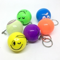 Shake flash ball key chain