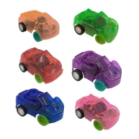 Transparent and colorful mini toy car