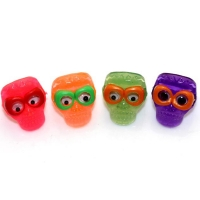 colorful glasses olastic skull ring