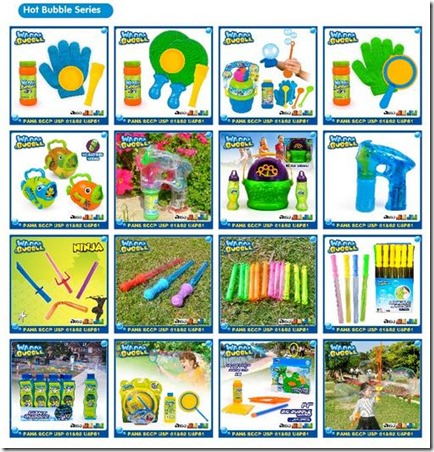 models of bubble toys