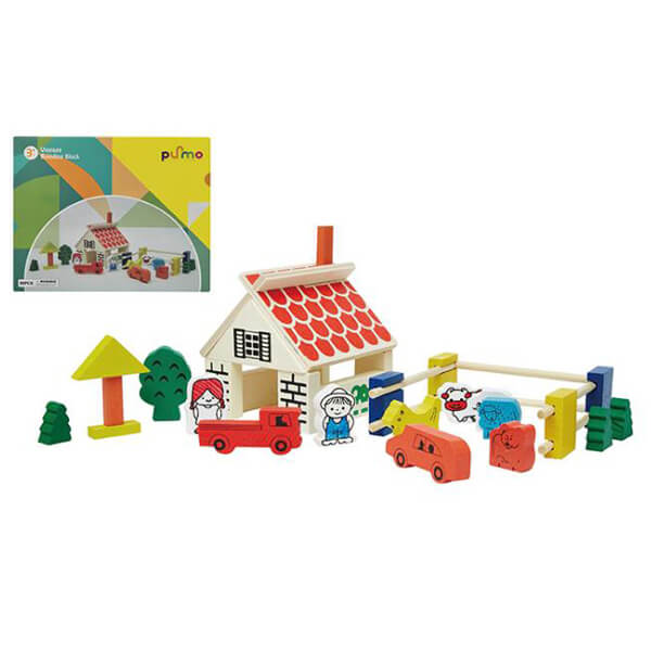 farm toys set wood