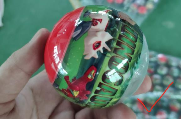 Capsule Toys wrap by machine