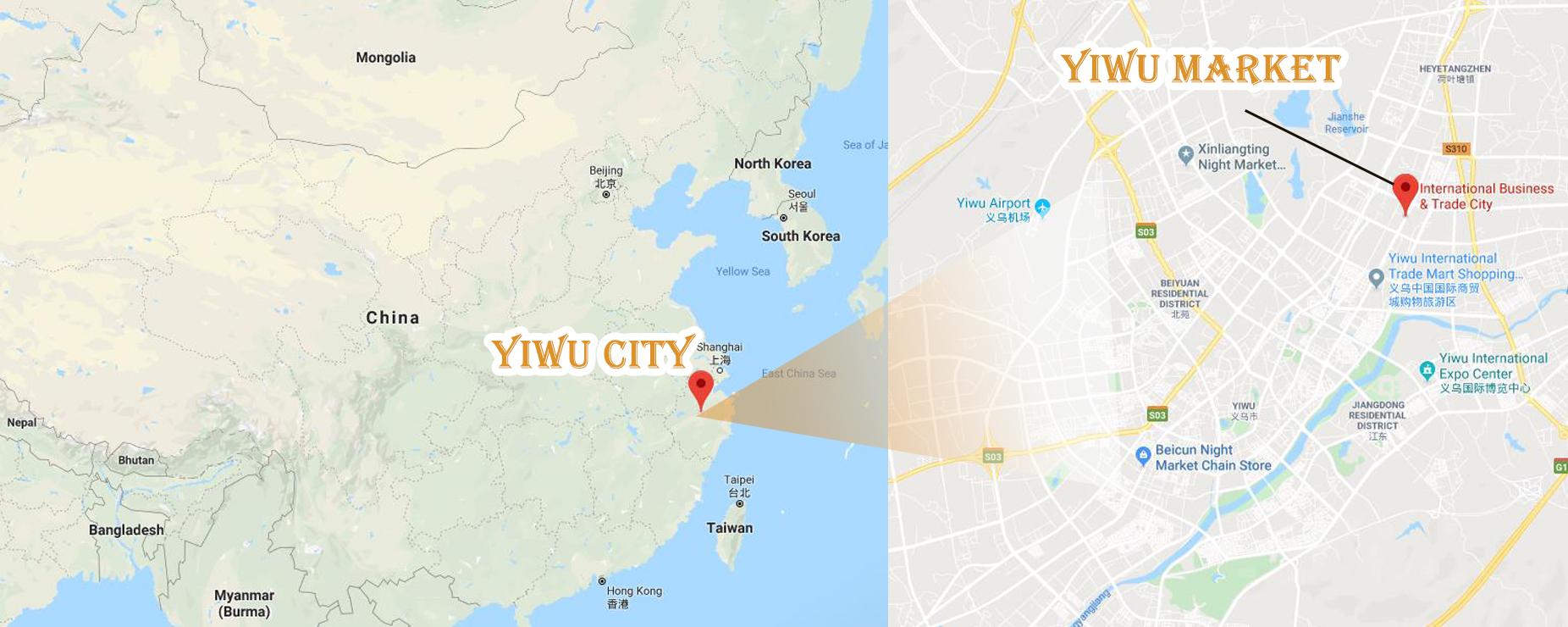 yiwu market map location