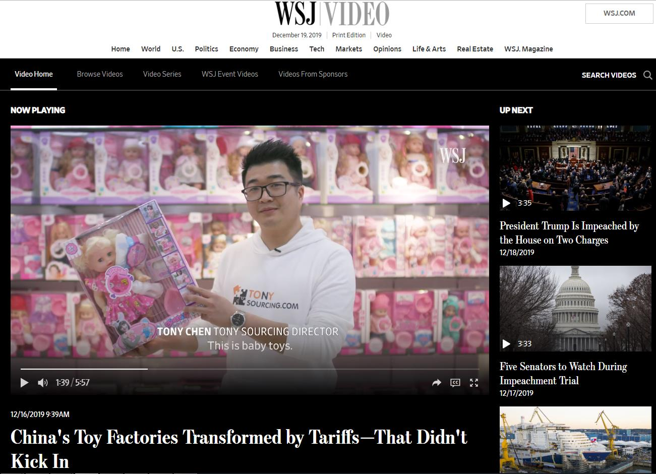 TonySourcing Wall Street journal