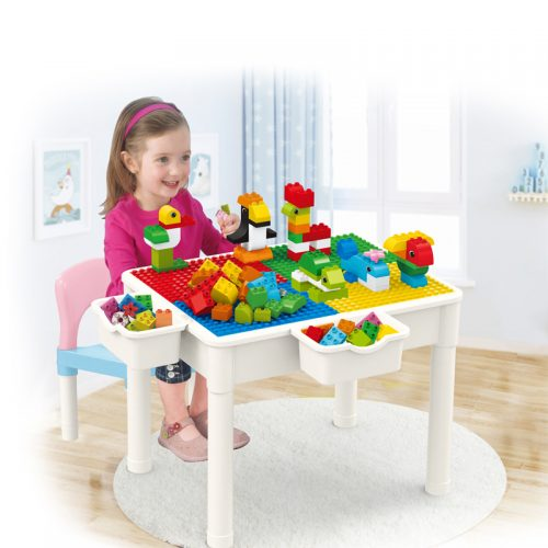 educational learning table with chair storage box